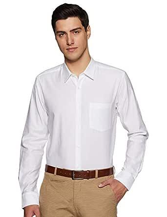Park Avenue Men's Geometric Print Slim Fit Formal Shirt (PMSX13558-W1_White_40)