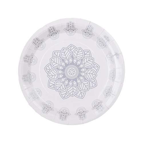 Assiette Oriental X10 - Argent