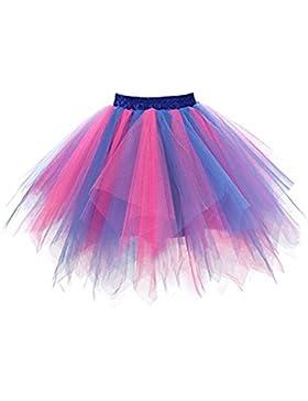 Falda corta de los hombres de la gasa de colores de alta calidad de la falda corta del baile del tutú del adulto