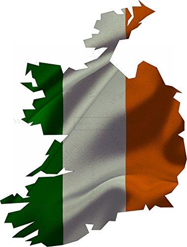 Sticker-Designs 75cm!Aufkleber-Folie Wetterfest Made IN Germany Irland UV&Waschanlagenfest Auto-Sticker Decal Staat Fahne Flagge Wappen Land FD61 Profi Qualität bunt farbig Digital-Schnitt! (Wappen Irland)