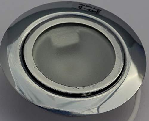Juego de 5Muebles Foco empotrable (cromo satinado) con frontal para 12V G4LED...