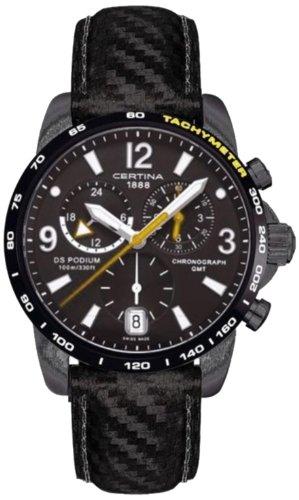 Certina Herren-Armbanduhr XL Chronograph Quarz Leder C001.639.16.057.01