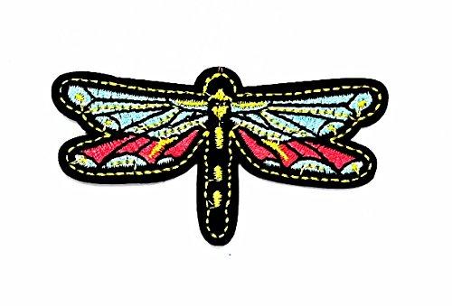 rabana Libelle Cartoon Kids Kinder Cute Animal Patch für Heimwerker-Applikation Eisen auf Patch T Shirt Patch Sew Iron on gesticktes Badge Schild Kostüm (Dragonfly Kostüm Kind)