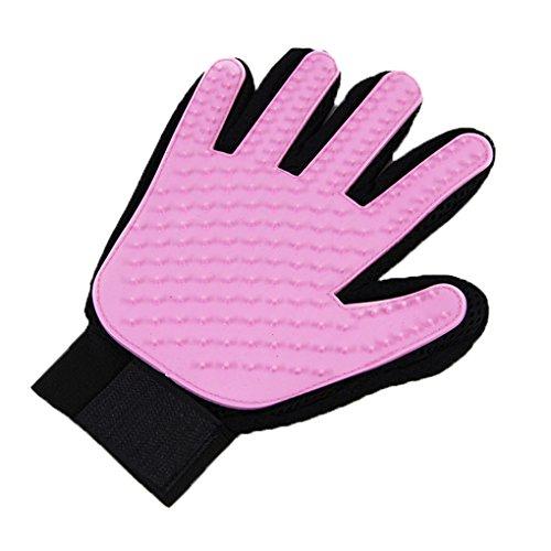Topker Rechts Hand Hund Haar Handschuh Kamm Silikon Haarbürste Bad Massage Handschuh Katze Hundepflege Pinsel Rosa Haarbürste Palm