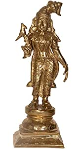 Exotic India Goddess Andal - The One Born of the Earth - Bronze Statue from Swamimalai