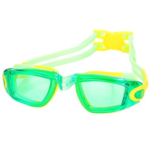 Black Temptation Transparente Linsen Brillen Grün Schwimmbrille für Kinder