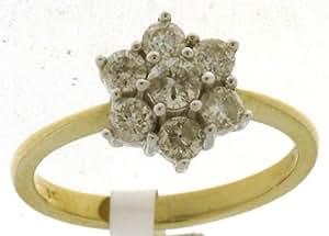 Classical 9 ct Gold Ladies Diamond Ring Brilliant Cut 0.75 Carat I-I1 Size J