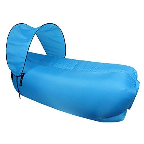 Gonfiabile lettino divano con carry bag beach lounger divano ad aria gonfiabile divano letto piscina galleggiante per indoor / outdoor trekking camping,