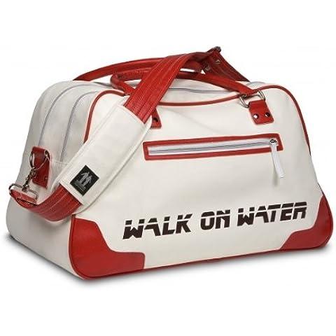 Walk On Water - Bolsa de bolos (38,1 cm), color blanco y rojo