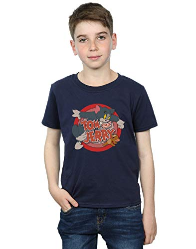 Tom and Jerry Jungen Classic Catch T-Shirt 7-8 Years Marine