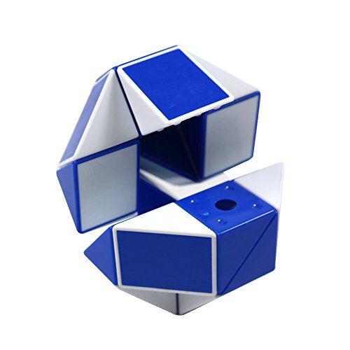 FCBB 24 Parts 3D Blue and white Ruler Twist Toy Snake Puzzle Kid Game Toy
