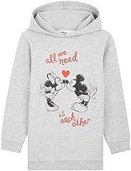 Disney Sudadera Niña, Vestidos Sudadera con Mickey Mouse y Minnie Mouse, Sudaderas con Capucha, Merchandising