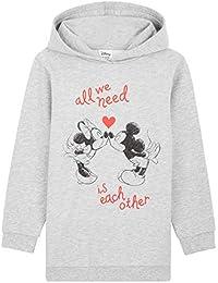 Disney Sudadera Niña, Vestidos Sudadera con Mickey Mouse y Minnie Mouse, Sudaderas con Capucha, Merchandising Oficial Regalos para Niñas y Adolescentes