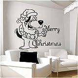 Mgdtt 56X66Cm Natale Babbo Natale Faccia Buffa Con Adesivo Murale Di Buon Natale Home Decor Camera Da Letto Per Bambini Decorazione Murale