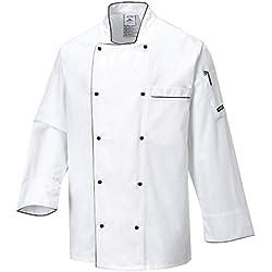 Portwest C776 - Chaqueta Chef Ejecutivo, color Blanco, talla Medium