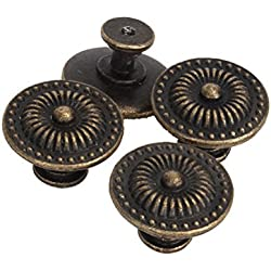 PIXNOR Cajón de Pomito Vintage armario Mango Pull Pack de 4 (bronce)