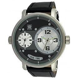 r-fight-homme-quartz-bracelet Genuine Leather Cowhide-Black