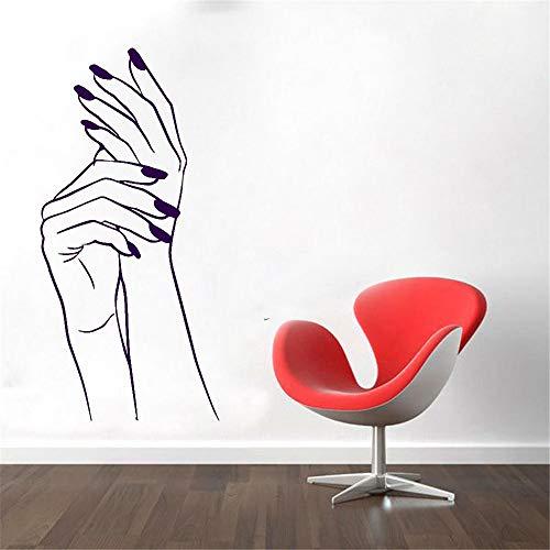 Moderne einfache wandtattoo fenster aufkleber schönheitssalon wasserdicht vinyl kunst dekorative tapete maniküre design 42 * 90cm