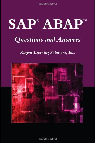 SAP?? ABAPTM Questions And Answers (Jones and Bartlett Publishers SAP Book) by Inc., Kogent Learning Solutions (2009-09-01)