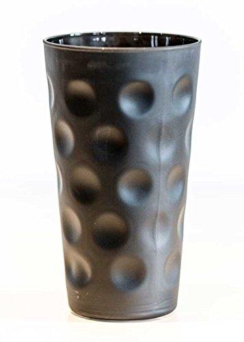 Farbige Dubbegläser - 'Dubbeglas Matt Schwarz ganz gefärbt' farbiges Schoppenglas - 0,5 Liter