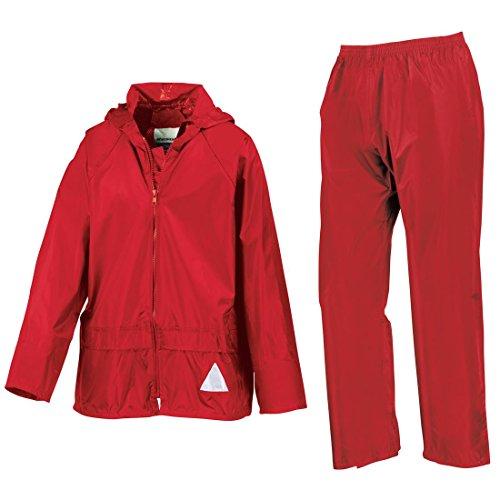 Risultato-Heavyweight-Giacca e pantaloni impermeabili, Set di grucce per pantaloni rosso X-Large