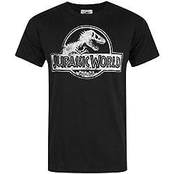 Hombres - Official - Jurassic World - Camiseta (M)