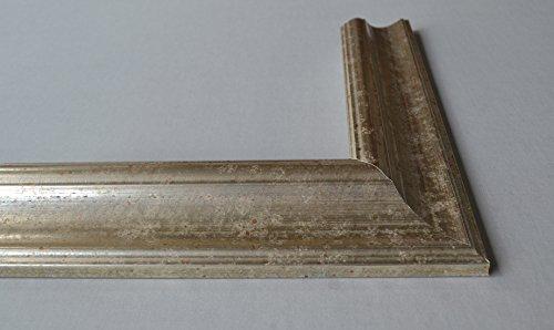 Bilderrahmen Athen - Silber 36x48 cm 48x36 cm hier mit entspiegeltem Plexiglas