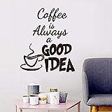 Wandaufkleber Wandaufkleber Zitate Kaffee Ist Immer Eine Gute Idee Zitat Cafe Wohnzimmer Abnehmbare Dekoration Wandtattoo Wand