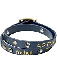Pilgrim Jewelry Damen Armband Metall Leder vergoldet 41.0 cm - kristall weiß - 901332202