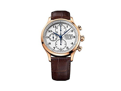 Louis Erard 1931 Automatic Watch, PVD Rose Gold, White, Leather, 78225PR01.BRC03