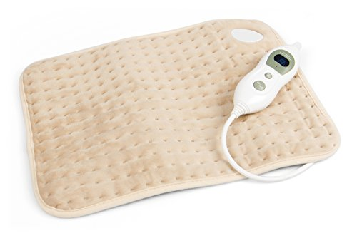 Vidabelle Kuschelheizkissen mit 6 Temperaturstufen in beige, Wärmekissen mit Überhitzungsschutz und Maschinenwaschbar