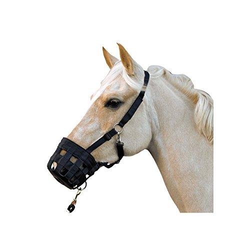 Bozal Cesta Anticólico negro caballo
