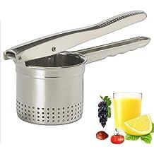 cherryer exprimidor de limones Manual en acero inoxyable extractor de zumo Manual exprimidor acero inoxidable manual de palanca apta para zumo de naranja, de limón y otras frutas de sin carcasa