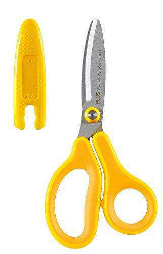 PLUS Japan, Schere Fitcut Curve Kids in Gelb für Linkshänder, 1er Pack (1x 1 Schere)
