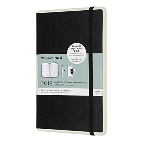 Price comparison product image 2018 Moleskine Smart Planner Black Large Weekly Diary Notebook 12 Months Hard