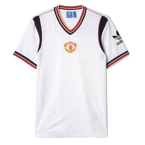 adidas Originals Manchester United ManU Retro Trikot Auswärts 1985/1986 Größe XL weiß-rot, XL - United Manchester Auswärts