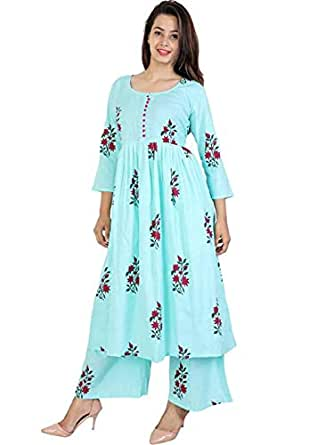 Narsinh Women's Cotton Readymade Salwar Suit