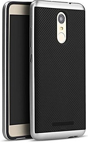 Original iPaky Brand Luxury High Quality Ultra-Thin Dotted Silicon Black Back + PC Silver Frame Bumper Back Case Cover for Xiaomi Redmi Note 3 -Silver
