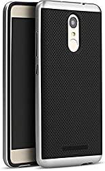 iPaky Ipy-RNote3 Luxury High Quality Ultra-Thin Dotted Silicon Black Back + PC Silver Frame Bumper Back Case Cover for Xiaomi Redmi Note 3 -Silver