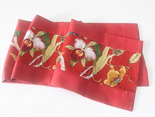 Tang Moine New European Style Red Flower Familie Tischwäsche Tabelle - Polyester-Gewebe Hochzeitshotel Desktop-Dekoration,33*180cm