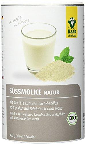 Raab  Bio Sueßmolke WellnessDrink natur, 1er Pack (1 x 450 g Dose) - Bio