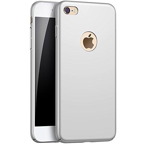 iPhone 6/6S case, Zfeibi rigida iPhone 6/6S cover [11,9cm] con piena protezione dello schermo in vetro temperato antigraffio leggero ultra-sottile per iPhone 6case grigio Grey Grey