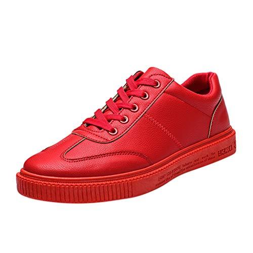 EU36-EU49 ODRD Schuhe Herrenmode Einfarbige Herren-Schnürschuhe mit Vulkanisiertem Boden, Abriebfeste Freizeitschuhe Freizeitschuhe Stiefel Wanderstiefel Combat Hallenschuhe Shoes Laufschuhe Sports