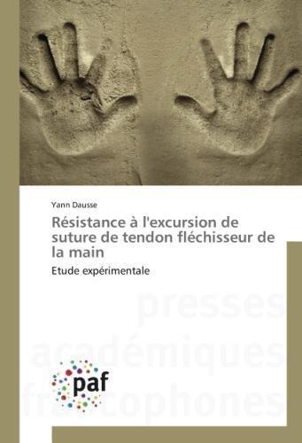 Résistance à l'excursion de suture de tendon fléchisseur de la main: Etude expérimentale