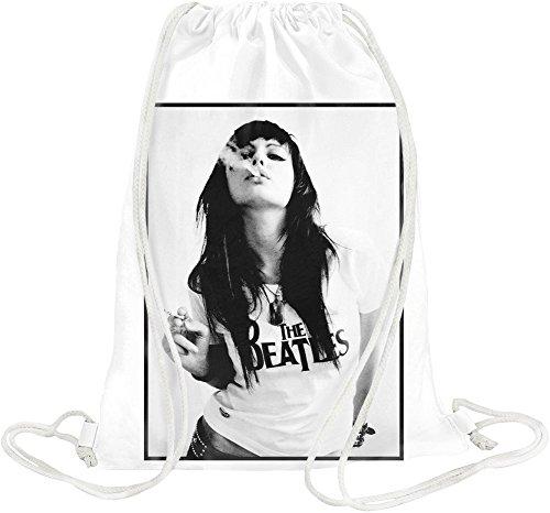 Sexy Beatles Fan Smoking Drawstring bag -