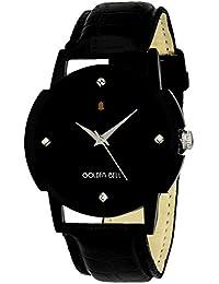 Golden Bell Original Black Dial Black Strap Analog Wrist Watch For Men - GB-890