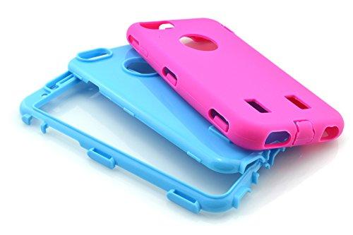 meaci (TM) Coque pour iPhone 6Plus Étui 14cm Combo 3en 1coloré hybride Defender High Impact Corps ArmorBox Coque rigide en silicone et PC Coque de protection (VI)