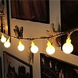 Satyam Kraft 50 bulb solar light 7 meter for garden and outdoor LED
