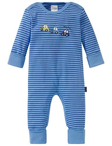 Schiesser Jungen Polizei Baby Anzug mit Vario Zweiteiliger Schlafanzug, blau 800, 80 (Herstellergröße: 080)