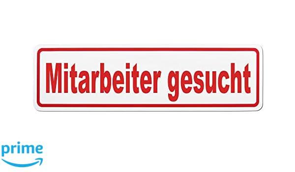 Schild magnetisch 65 x 19 cm Lohofol Magnetschild Mitarbeiter gesucht mehrere Gr/ö/ßen lieferbar